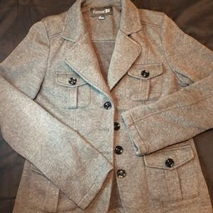 Woman's size large grey pea coat